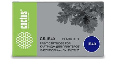Риббон-картридж IR40T черный/красный