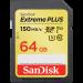 Карта памяти SanDisk Extreme Plus (SDSDXW6-064G-GNCIN) 64GB