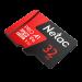 Карта памяти NeTac MicroSD card P500 Extreme Pro 32GB (NT02P500PRO-032G-R), retail version w/SD adapter
